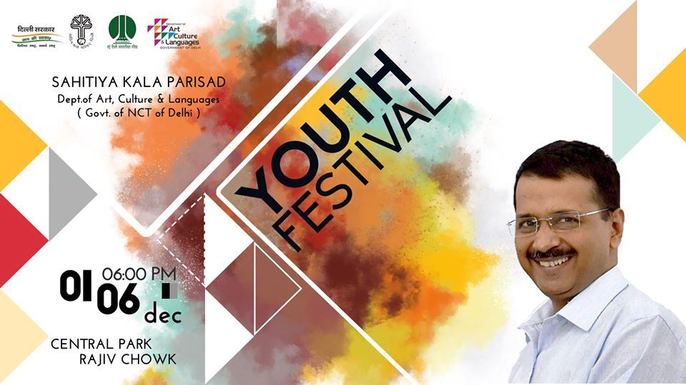 Delhi Govt. to hold 6-day Youth Festival from 1st-6th December at Central Park, CP